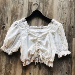 SAGE THE LABEL EYELET TOP NWT